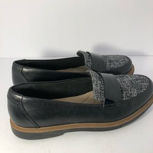 CLARKS  Womens raisie eletta Black Penny Loafers